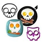 2-Piece Skull and Owl Fried Egg/Pancake Molds $5.45 Shipped