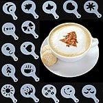 16-Piece Cappuccino Latte Art Coffee Stencils $2 Shipped