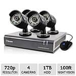 Swann 720p HD Analog 4 Channel 4 Camera Surveillance System $300 Shipped