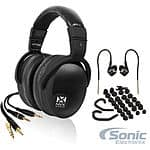 NVX XPT100 Studio Over-Ear Headphones + NVX EX10S In-Ear Monitors Earbuds $89.98 + Free Shipping