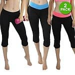 2-Pack Yoga Capri with Fold-Over Waistband (assorted colors) $8.49 with free shipping