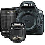 Nikon D5500 Digital SLR Body Only + 18-55 VR II + 70-300mm Lens Bundle Kit $700 Shipped