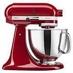 KitchenAid Artisan Series 5-Quart Stand Mixer (red) $267 with free shipping