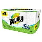 24-Count Bounty White Giant Roll  Paper Towels $20.99 or 16-Count Bounty White Huge Roll Paper Towels $22.39 + Free Shipping