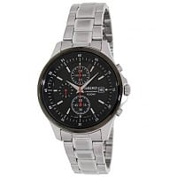 Shnoop Deal: Seiko Men's Black Dial Chronograph Stainless Steel Watch $57.99 + Free Shipping
