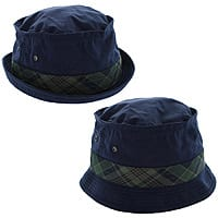 Shnoop Deal: 2 Pack: Norton Style Navy Bucket Hat with Colored Madras Band By Totes $4.99 + Free Shipping