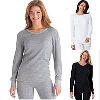 Women's Waffle Knit Thermal Sleepwear Set (various colors) $  6.99 + Free Shipping