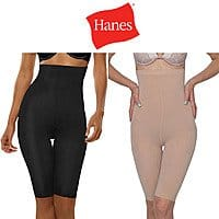 Shnoop Deal: Hanes Women's Hi-Waist Thigh Shaper (Black or Nude Color) $7.99 with free shipping