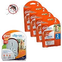 Shnoop Deal: OFF! Clip-On Mosquito Repellent Starter Kit Fan + 9 Refill Disks $12.99 with free shipping