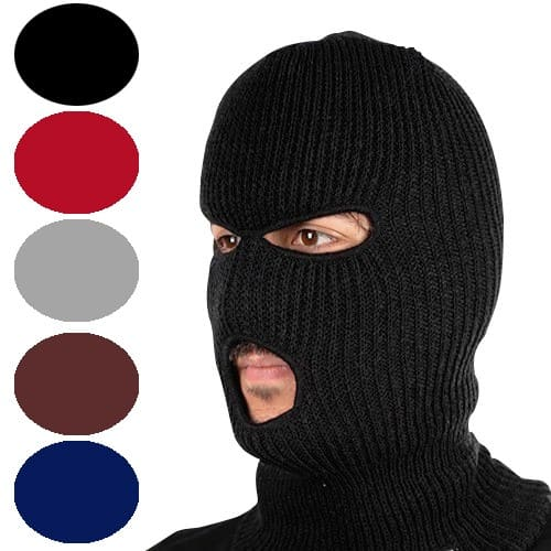 Unisex Winter Knit 3-Hole Ski Mask (5 colors) for $2.99 + free shipping