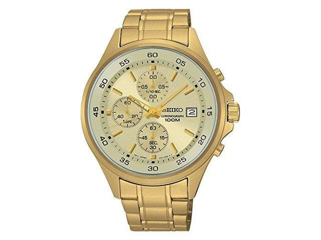 Seiko Men's SKS482 Gold-Tone Chronograph Watch $68 or Seiko Men's SKS475 Stainless Steel Blue Dial Casual Chronograph Sports Watch $100 + Free Shipping