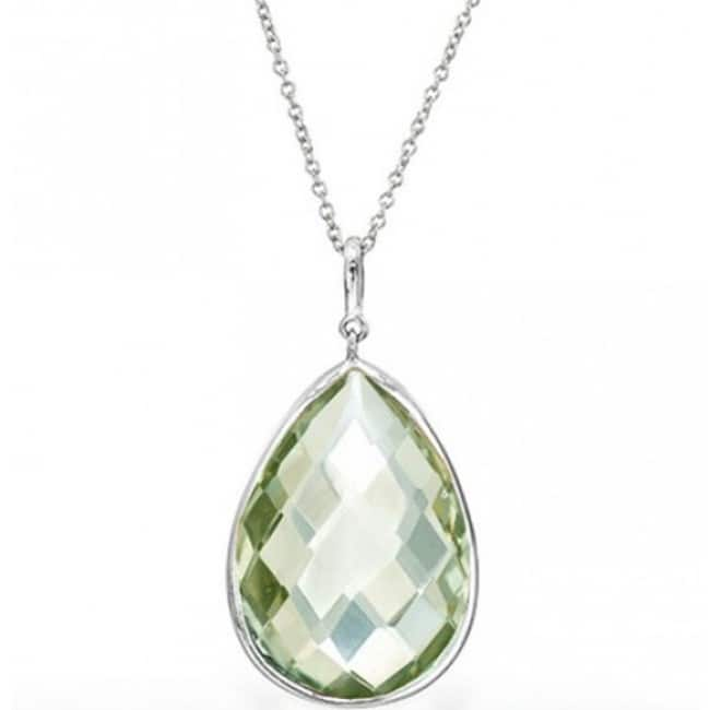 Necklace Pendant 7.00 CTW Genuine Green Amethyst in Sterling Silver $9.99 + Free Shipping!
