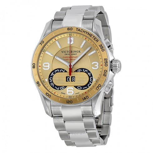 Victorinox Men's Swiss Army Chrono Classic Watch: Stainless Steel Bracelet $190, Leather Strap $175 + Free Shipping