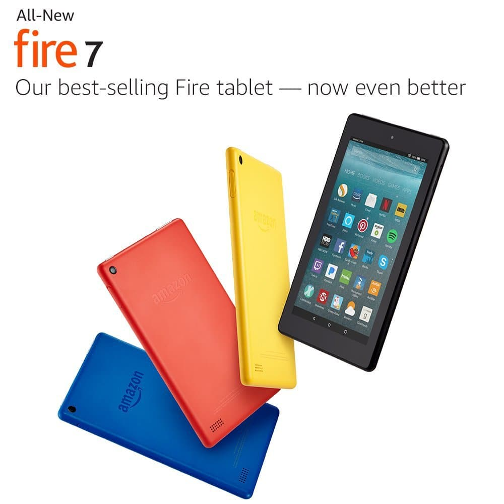 """Prime Members: 3-Pack 8GB Amazon Fire 7 7"""" Tablet with Alexa $79.97 or 2-Pack 16GB Amazon Fire 7 Kids Edition 7"""" Tablet $119.98 + Free Shipping"""
