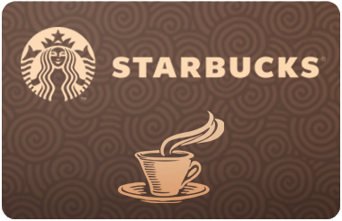 Cardcash: Up to 18.2% off Starbucks: $25 for $20.45