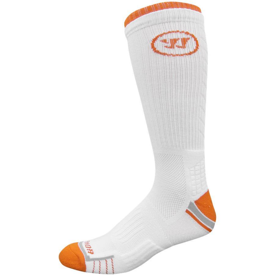 Warrior Lacrosse Socks: Fast Break Crew Sock $1.50, Lazer Crew Sock $1.99, 2-Pack Home & Away Crew Socks $2.74, 3-Pack Triple Digits Crew Socks $3.24 + Free Shipping on $45