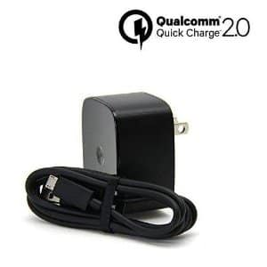 Motorola TurboPower 15 Official Quick Charge 2.0 Wall Charger w/ 3.3' Micro USB Cable - $9.93 - FS w/ Prime