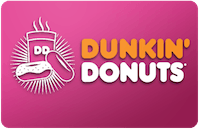 Cardcash Dunkin Donuts eGift Cards up to 40% off: $55 for $32.89, More