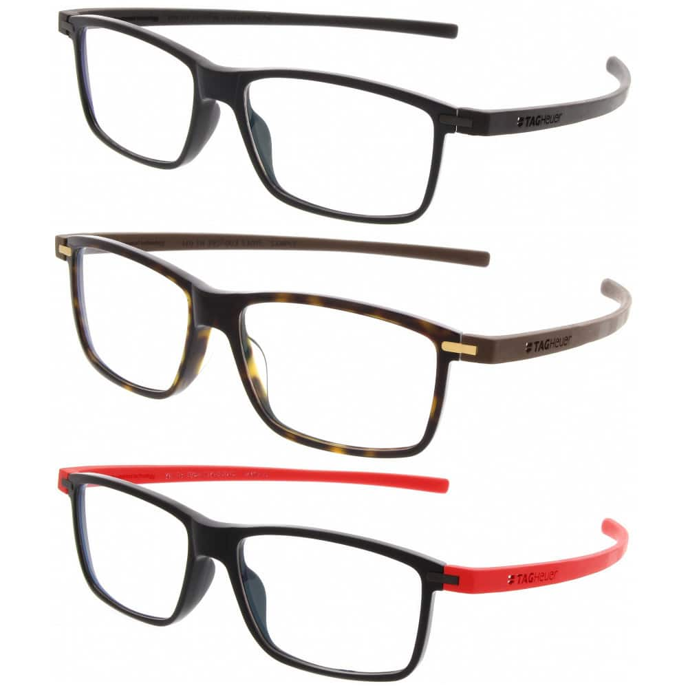 Tag Heuer 3955 Reflex Rectangle Prescription Eyeglasses Frames ...
