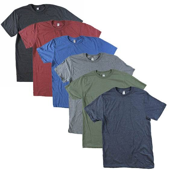 6-Pack Ultra Soft Lightweight Heathered Cotton Blend T-Shirts (various colors, XL & 2XL) $19.49 + Free shipping