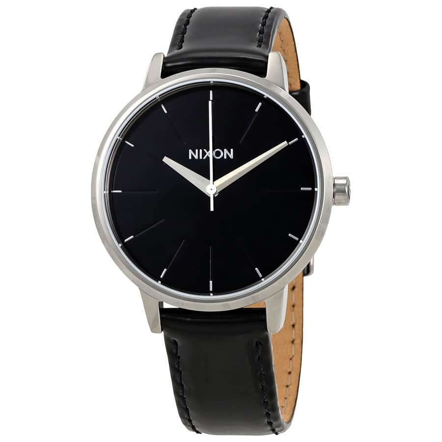 Nixon Women's Kensington Black Dial Watch w/ Leather Strap $30 + Free Shipping