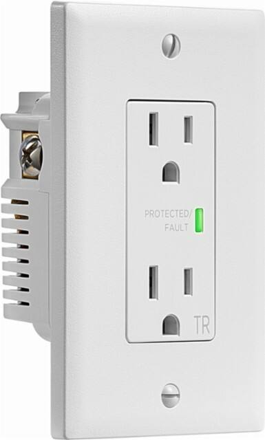 Insignia 2-Outlet 1080J In-Wall Surge Protector (White, NS-HW120S18) $10 + Free Shipping $9.99