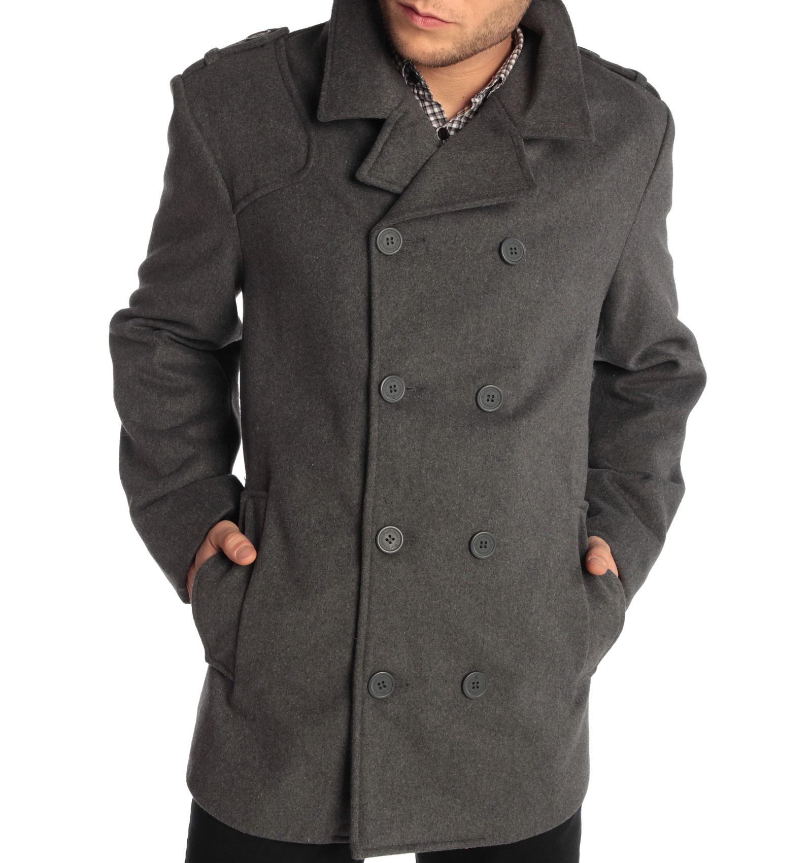Alpine Swiss Jake Mens Pea Coat $29.99 Shipped