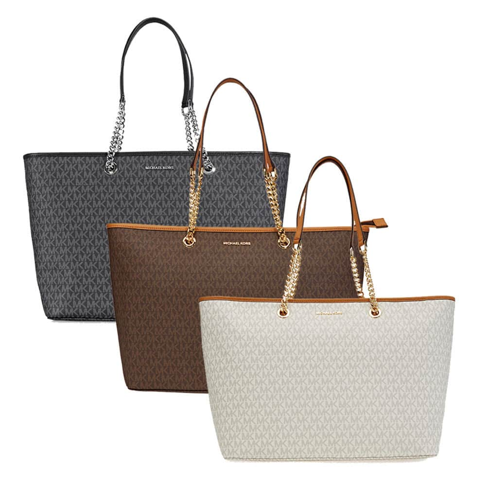 Michael Kors Women's Top Zip Jet Set Travel Leather Top Handle Tote $109.99 + Free Shipping