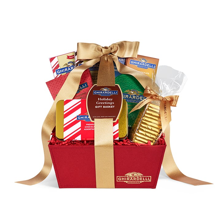 Ghirardelli Chocolate: 20% Off Gift Baskets: Holiday Greetings Gift Basket $44, Chocolate Celebration Gift Basket $52 & More + Free Shipping on $60