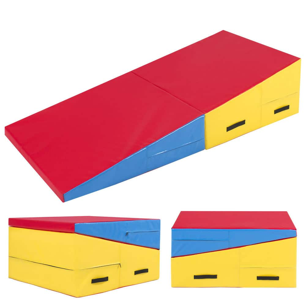 Best Choice Products Folding Gymnastics Incline Mat Cheese Wedge Skill Shape Tumbling Mat $126.99 Shipped