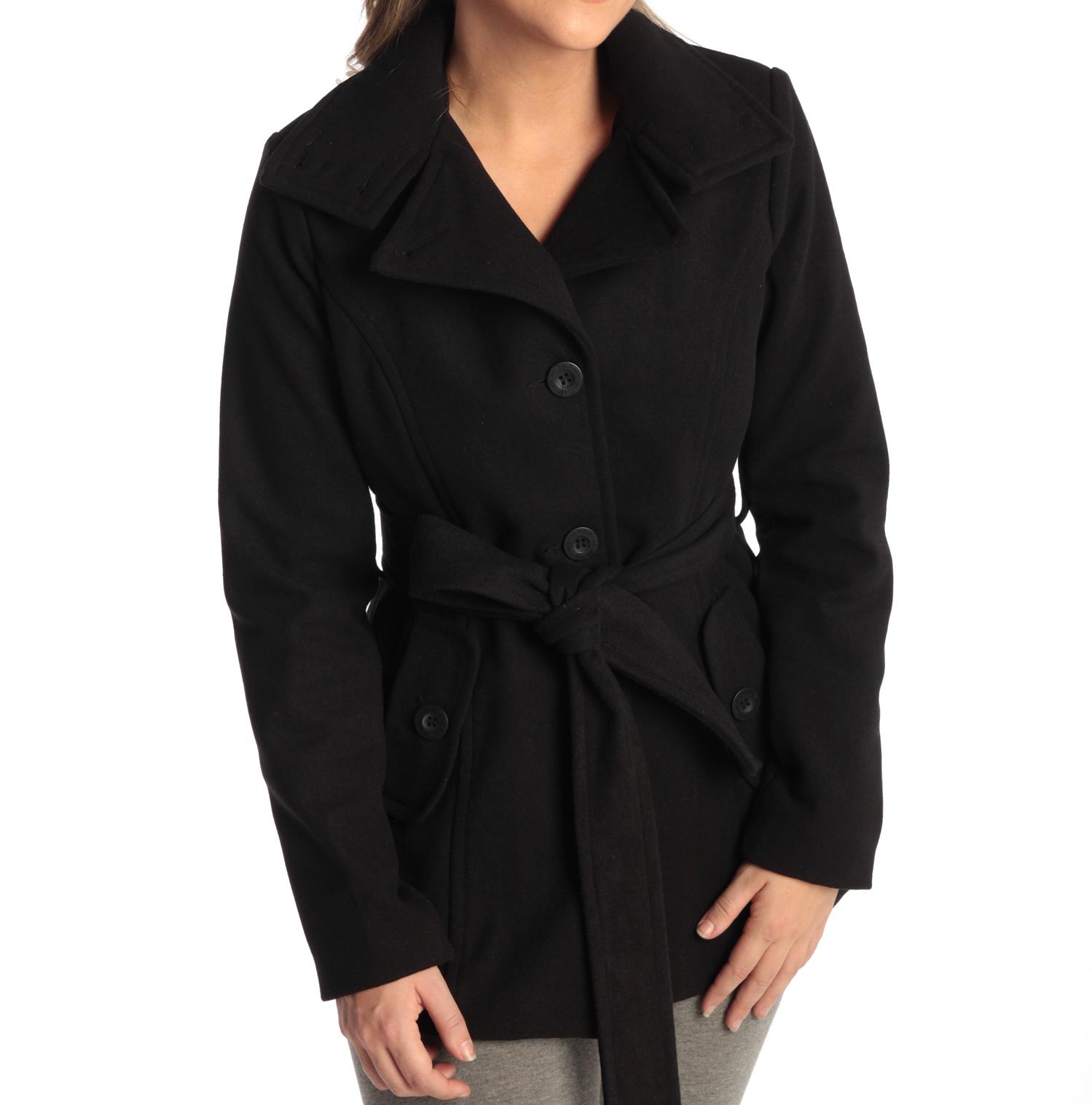 Alpine Swiss Bella Women's Belted Blazer Button Up Wool Coat $26.50 + Free Shipping
