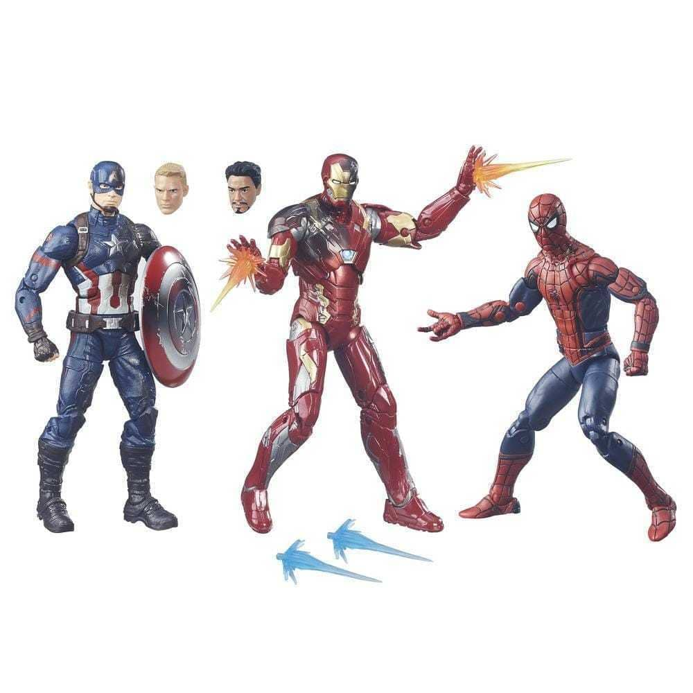 3-Pack Marvel Legends Captain America: Civil War 6-inch Figure for $23.99 + Free Shipping