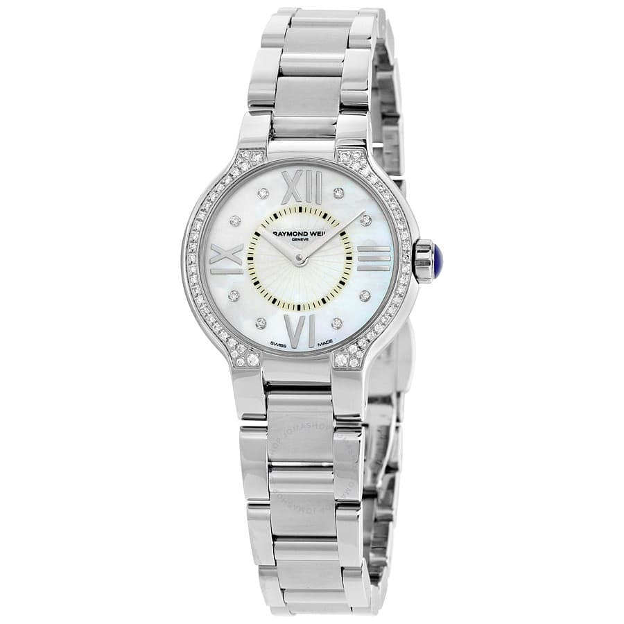 Raymond Weil Women's Noemia Mother of Pearl Diamond-Studded Dial Watch $499 + Free Shipping
