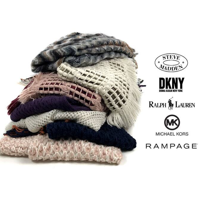 5-Pack of Designer Women's Winter Hats or Scarves from Brands like Rampage, Ralph Lauren, Michael Kors, DKNY $24.50 + Free shipping