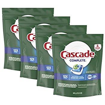 92-Ct Cascade Complete ActionPacs Dishwasher Detergent (Fresh Scent) $16.18 + free ship w/ Prime