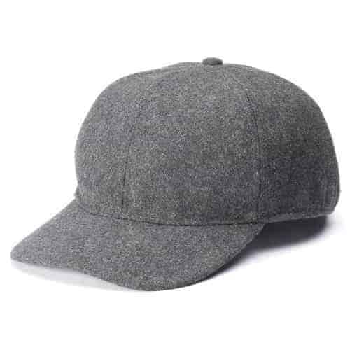 Totes Isotoner Men's Wool Blend Charcoal Grey Winter Baseball Cap w/ Drop Down Interior Earflaps (S/M) $6 & More + Free Shipping