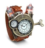 Tesla Watch w/ Leather Strap by ThinkGeek $35 + Free Store Pickup
