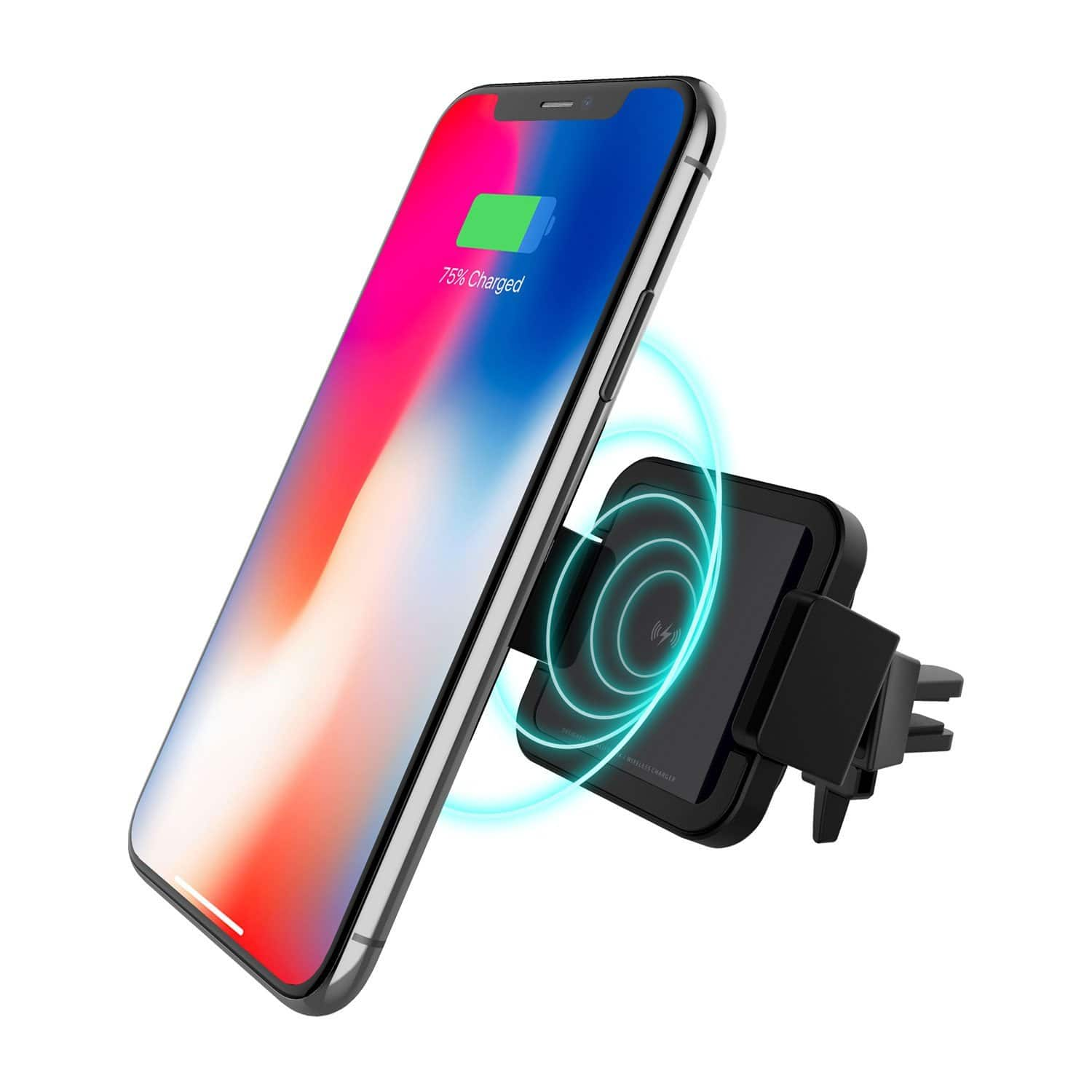 Patchworks: Qi Wireless Charger Fast Charging Car Air Vent Mount Phone Holder $20, Cases for iPhone X / 7 / 8, Galaxy S9 / S9 Plus, Note 8 & More $6 Each + Free Shipping