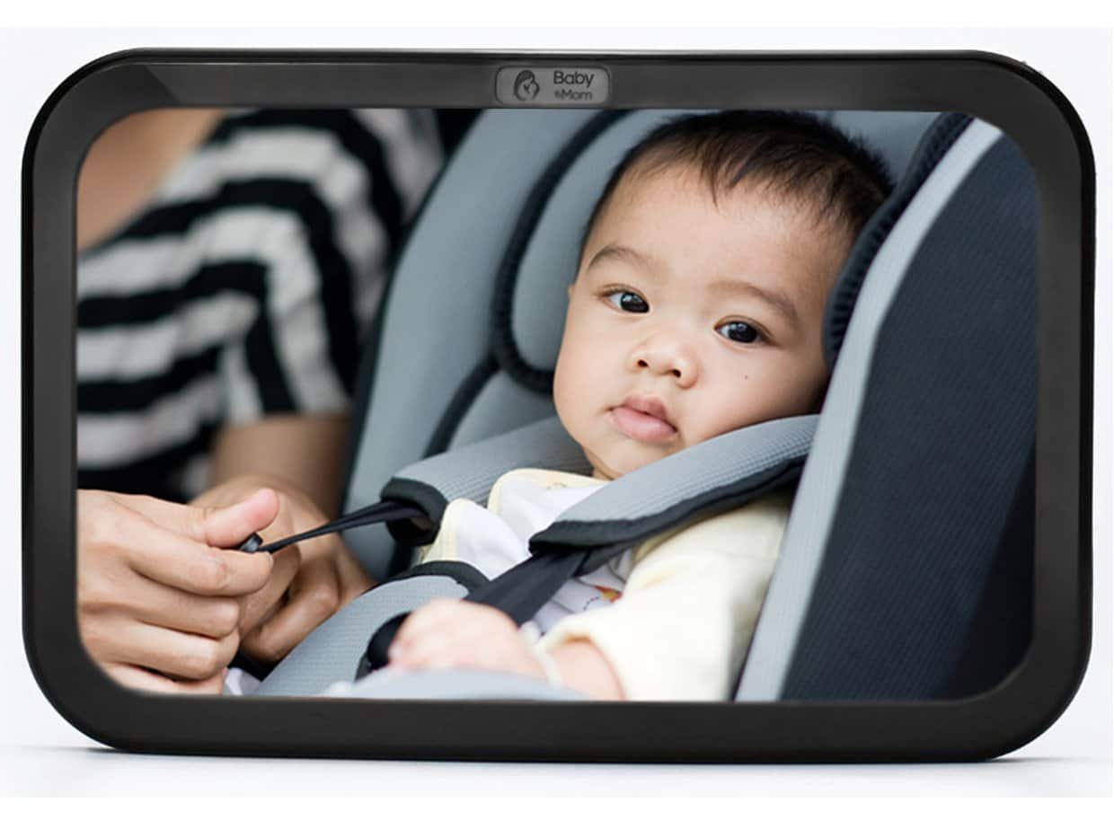 Baby & Mom Back Seat Rear View Baby Mirror - $8.49 + FS w/ Prime