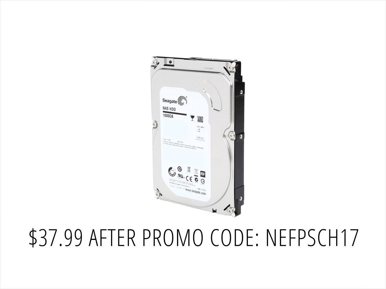 "1TB Seagate 3.5"" Internal Desktop Hard Drive $38 + Free shipping"