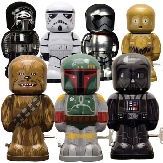 "Star Wars 8"" Vintage Style Tin Wind Up Toys (various characters) $5 + free shipping"