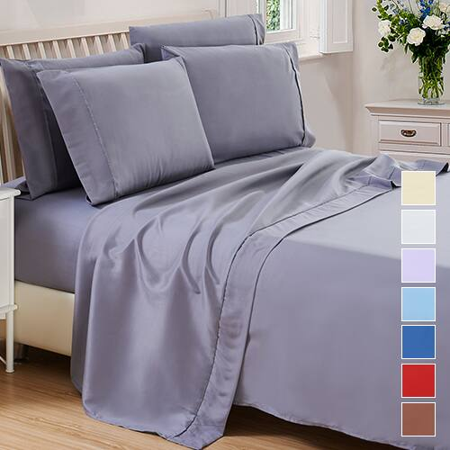 6-Piece Set: Microfiber 1800 Series Deep Pocket Bed Sheets: Full or Queen $16.99, King $17.99 + Free Shipping