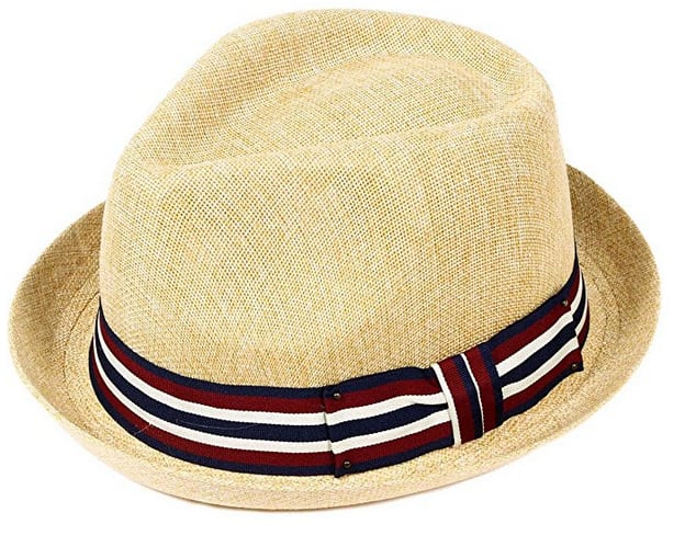 Livingston Unisex Summer Straw Structured Fedora Hat w/Cloth Band: Starting From $7.79 + FSSS