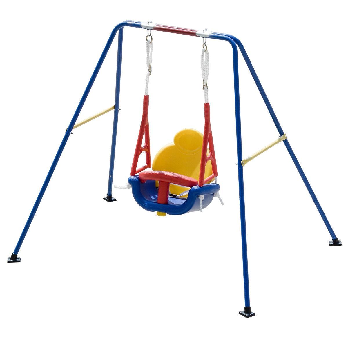 Costway A-Frame Kids 3-in-1 Toddler Swing Set $67.95 + Free Shipping