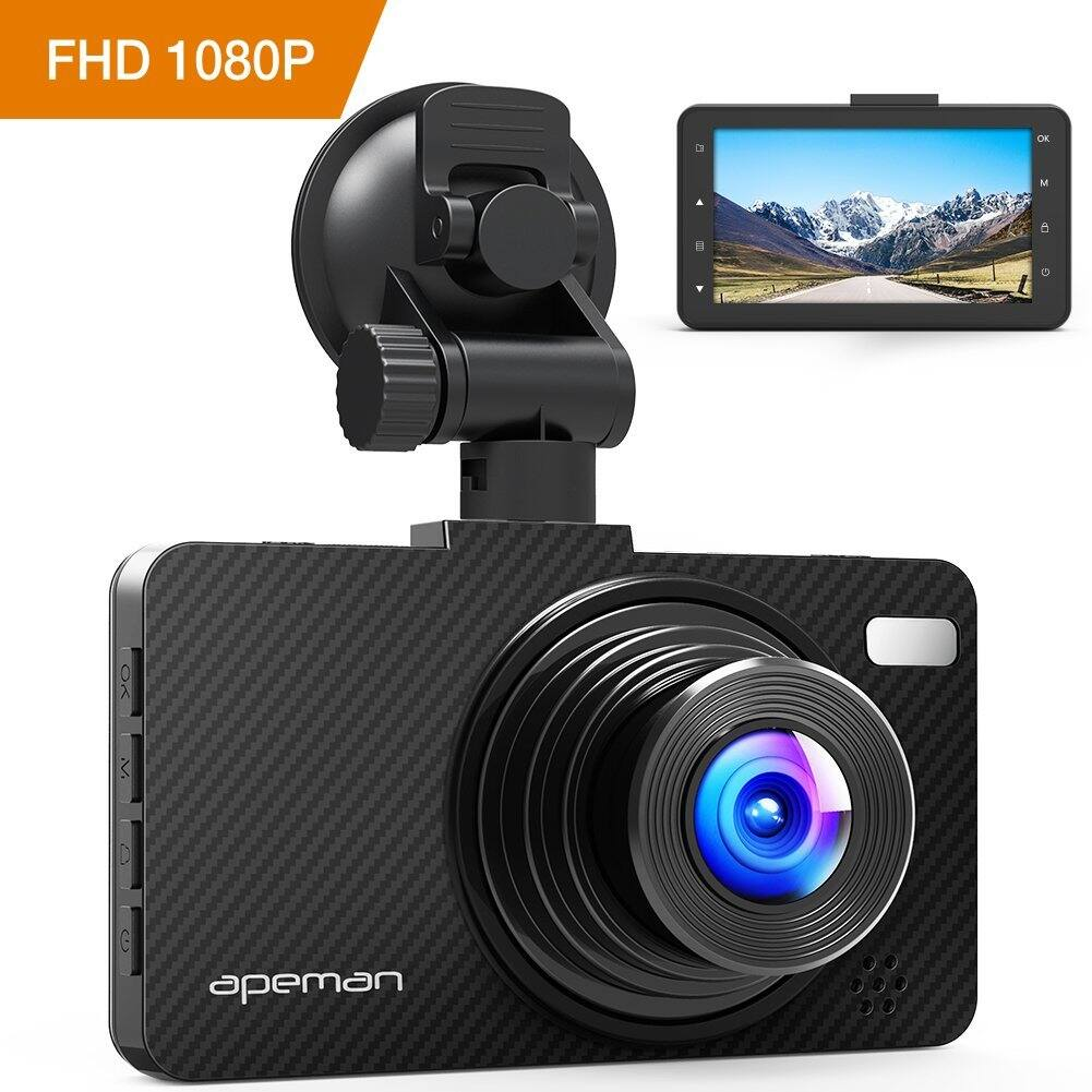"APEMAN 1080P Dash Cam with 3.0"" Screen, Night Vision, G-sensor, WDR, Loop Recording, Motion Detection $30 + FSSS"