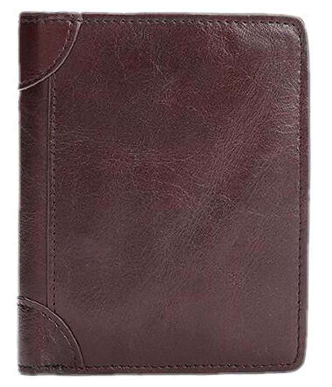 West Leathers Men's Slim Full Grain Leather Wallets $8 + FSSS