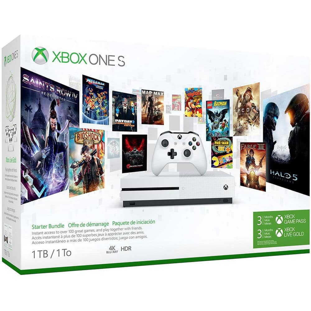 Xbox One S 1TB Starter Bundle (White) for $246.45 + Free Shipping (eBay Daily Deal)