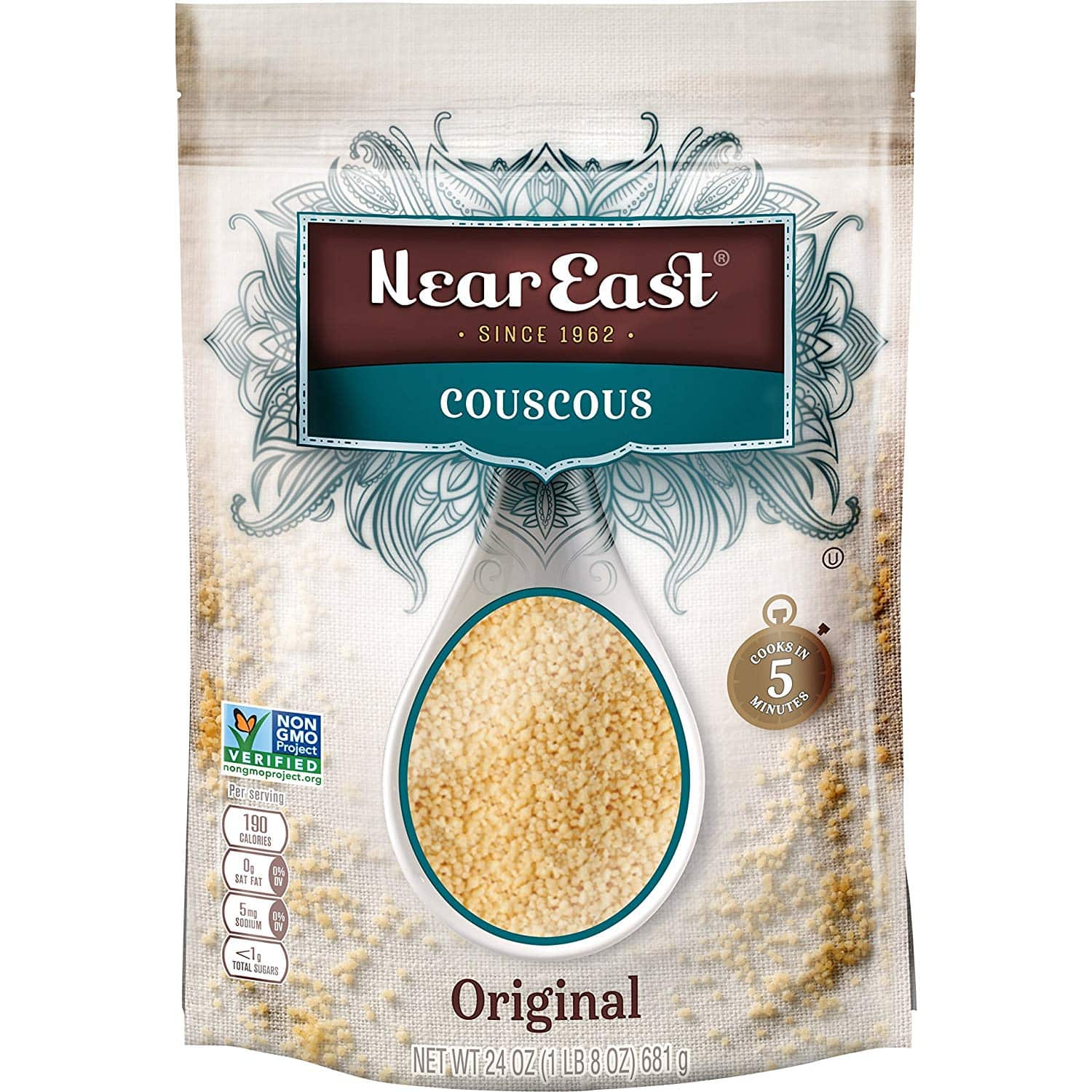 2-Pack of 24oz. Near East Couscous in Resealable Bags (Original) $9.74 + free shipping with prime
