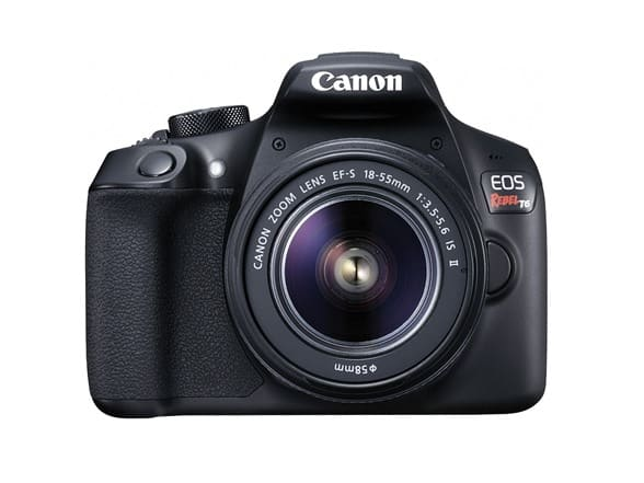 Canon Rebel T6 Digital SLR Camera with/18-55mm Lens - $309.99 + Free Shipping for Prime members