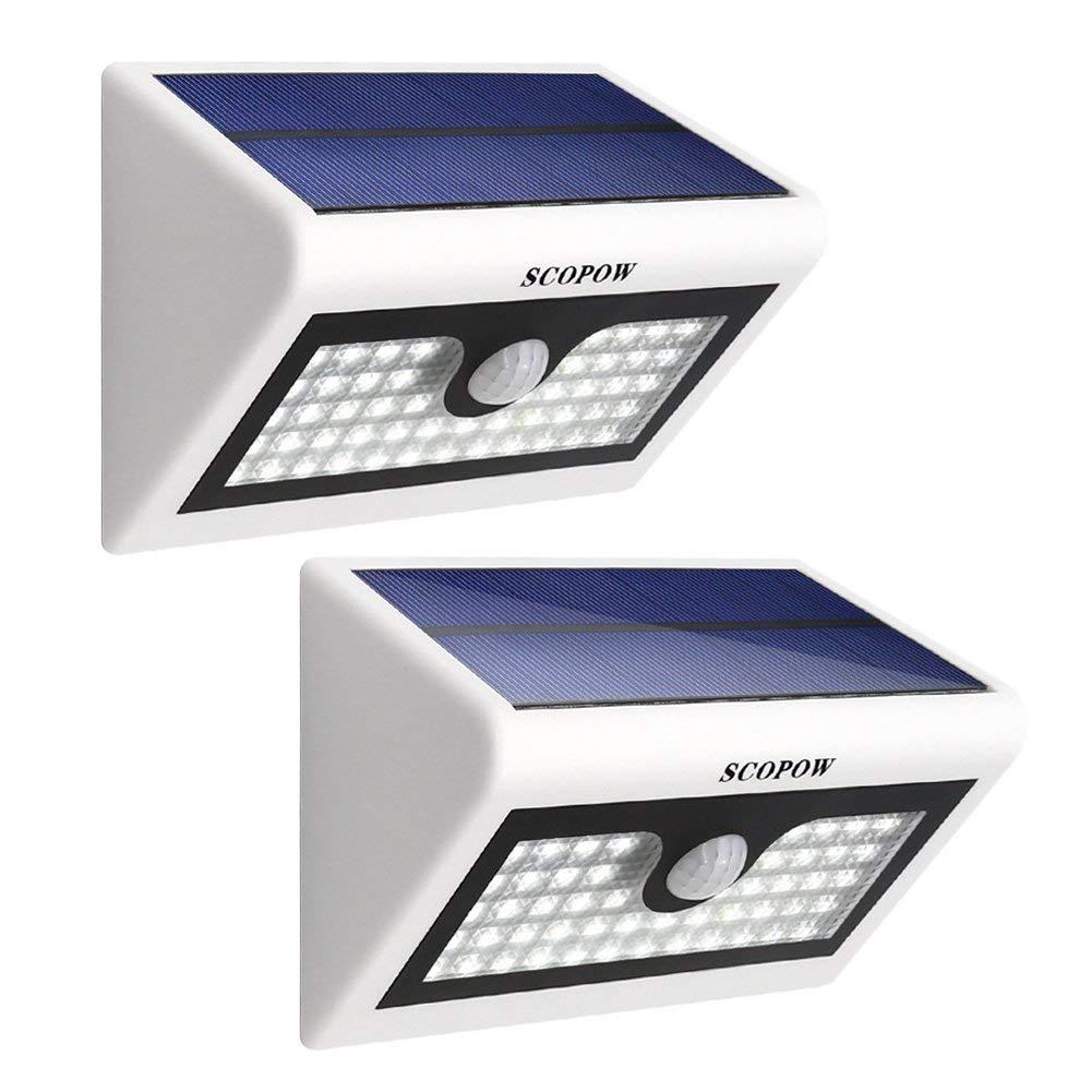 SCOPOW  50 LED Solar Wall Light Motion Sensor Light With Battery 3 Mode $13.16 + FSSS